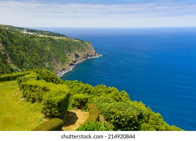 The beautiful landscape of the coast, Sao Miguel, Azores