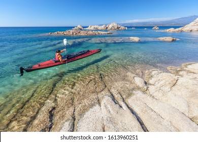 Beautiful landscape of Corsica coasts