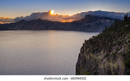 Beautiful landscape of Crater Lake in summer, Oregon