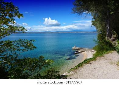 beautiful landscape in Crikvenica, Croatia
