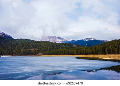 Bea.utiful landscape. Crno Lake. National park Durmitor and Black Lake. Zhablyak, Montenegro