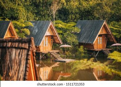 Beautiful landscape at Dusun Bambu, Bandung, Indonesia.