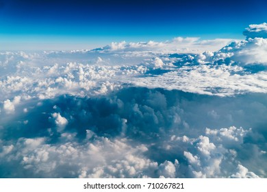 Beautiful Landscape Of Earth Clouds And Blue Horizon