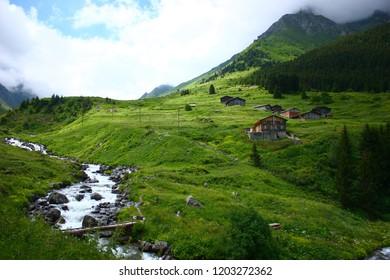 A beautiful landscape from the Elevit uplands of Rize in Black Sea region of Turkey.