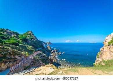 Beautiful landscape of Eo Gio beach in Qui Nhon Vietnam