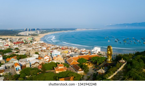 Beautiful landscape in Eo Gio, Quy Nhon, Vietnam from above