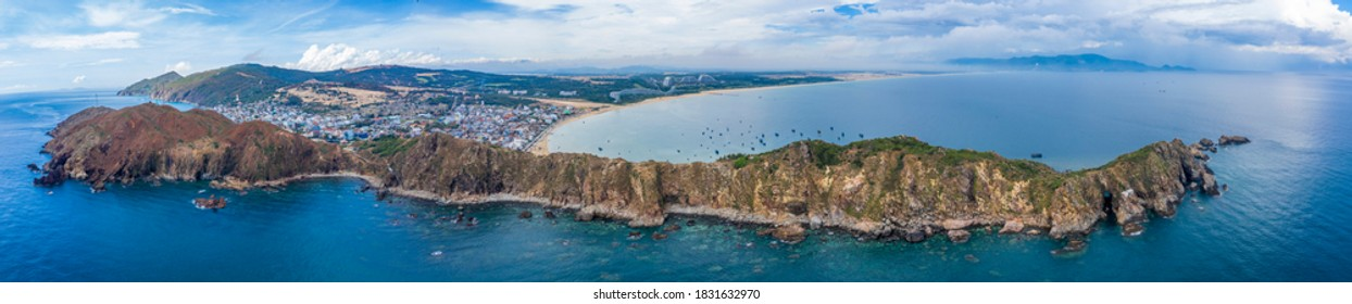 Beautiful landscape in Eo Gio, Quy Nhon, Vietnam from above. Travel and landscape concept - Shutterstock ID 1831632970