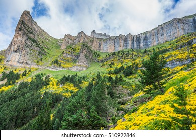 Beautiful landscape of famous Ordesa National Park, Pyrenees, Spain.