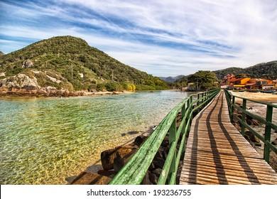 Beautiful landscape in Florianopolis, Santa Catarina, Brazil. One of the main tourists destination in south region.