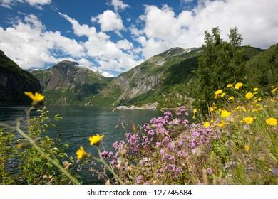 Beautiful landscape of Geiranger fjord (UNESCO heritage), Norway, Scandinavia