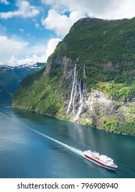 Beautiful landscape in Geiranger, Norway