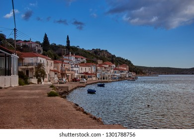 Beautiful landscape at Gerakas, a picturesque fishing village in Laconia. The village is also known as the Greek natural Fjord due to the geomorphology of the place. Laconia, Peloponnese, Greece
