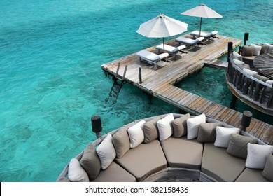 Beautiful landscape at Gili Lankanfushi in the Maldives