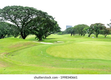 beautiful landscape at golf course in the Philippines