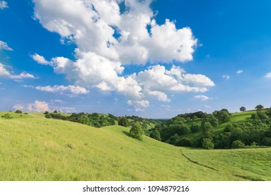 Beautiful landscape of the green hills