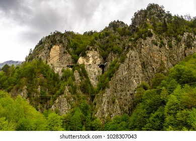 Beautiful landscape of the green mountain hills  of Romania
