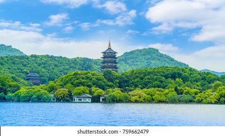 The beautiful landscape of Hangzhou, West Lake