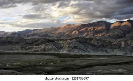 beautiful landscape of Hanle