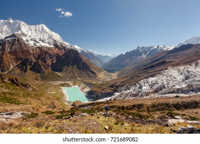Beautiful landscape of the Himalaya mountains on Manaslu circuit