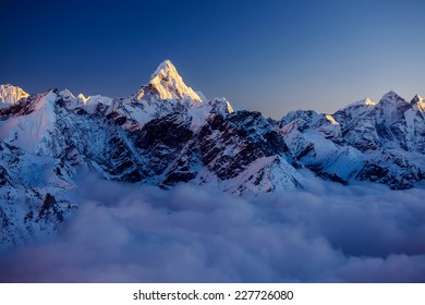 Beautiful landscape of Himalayas mountains
