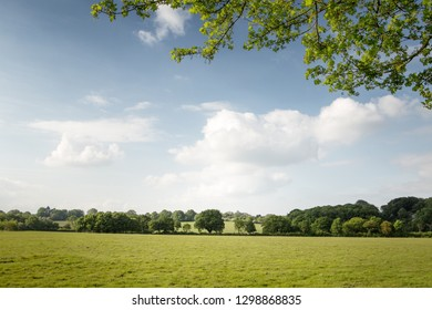 beautiful landscape image of Constable Country in england