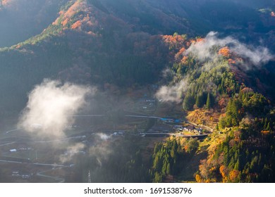 Beautiful landscape of iya valley shikoku Japan