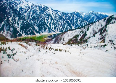 Beautiful landscape of Japan alps at Tateyama snow mountain