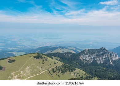 Beautiful landscape Kampenwand in Bavaria Alps in Summer