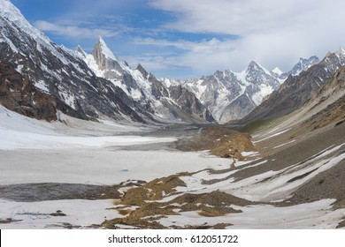 Beautiful landscape of Karakorum mountain range at K2 trekking route, Pakistan, Asia