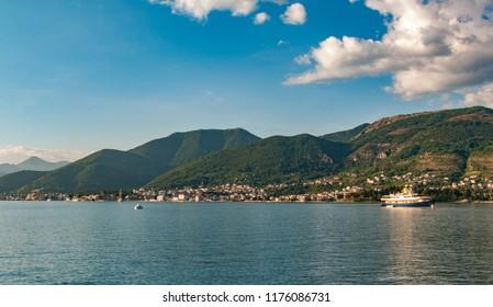 Beautiful Landscape Kotorska bay Montenegro
