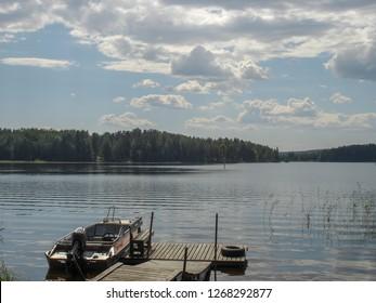 Beautiful landscape of Kuopio lakes