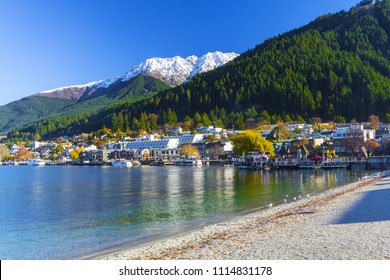 Beautiful Landscape of Lake Wakatipu Queenstown New Zealand; Queenstown City, South Island