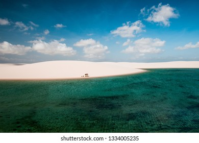 The beautiful landscape in Lençois maranhenses maranhao ( lencois ) Brazil