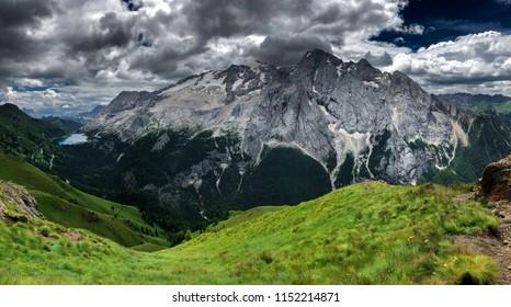 beautiful landscape, Marmolada, Dolomites, Italy