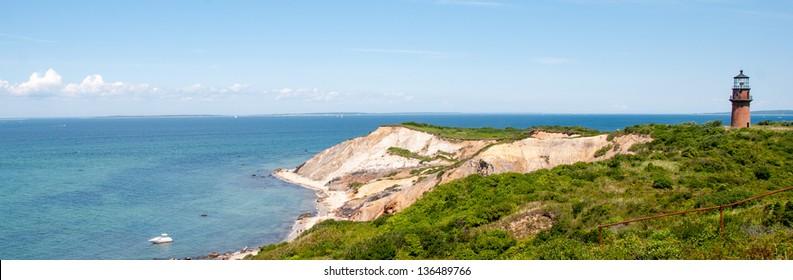 Beautiful landscape of Marthas Vineyard Island, Massachusetts.