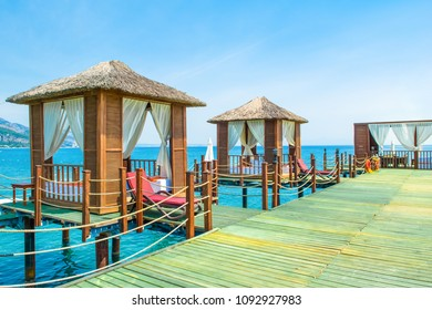 Beautiful landscape of the Mediterranean coast of Antalya, Turkey