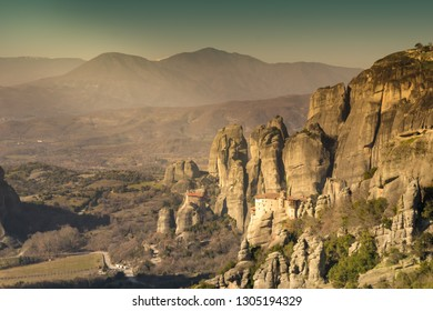 Beautiful landscape of Meteora in Greece.