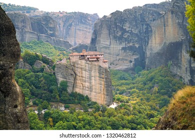 Beautiful landscape of Meteora, Greece with its monasteries, its mountains and its pristine nature