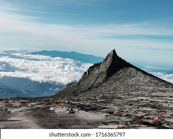Beautiful landscape mountain and clear sky,Mountain kota Kinabalu is a prominent mountain on the island and the first national parks and first World Heritage Site of Borneo,Malaysia.