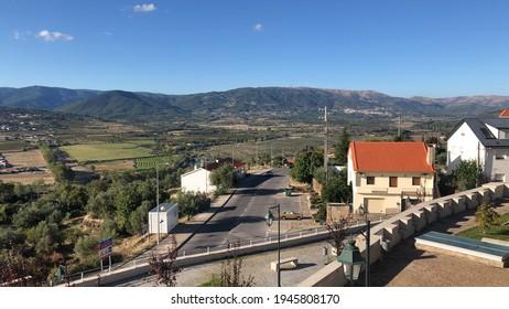 Beautiful landscape of mountains, Belmonte Portugal