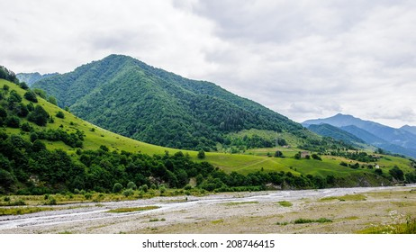 Beautiful landscape of the mountains of Georgia