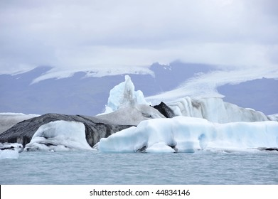 beautiful landscape of mountains and glacier