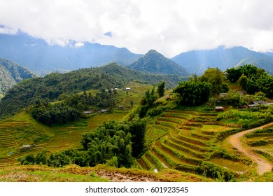 Beautiful landscape  of the mountains in Vietnam