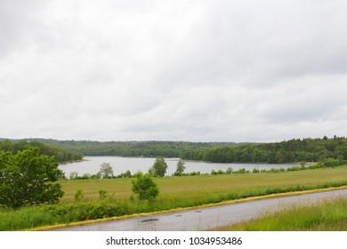 Beautiful landscape of Naas park, Sweden