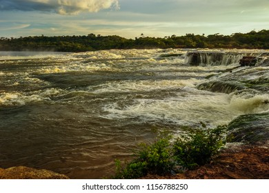 Beautiful landscape and natural river with waterfalls in the Colombian vaupes