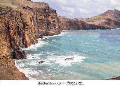 Beautiful landscape at the north coast of Ponta de Sao Lourenco, Madeira, Portugal