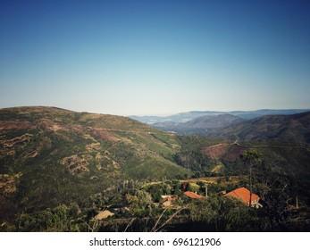 Beautiful landscape of North of Portugal, Serra d'Arga mountains