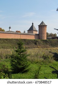 Beautiful landscape. The old monastery. Russia, Suzdal.