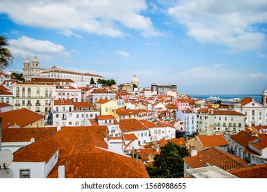 Beautiful landscape of the old part of Lisbon