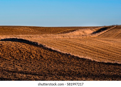 Beautiful landscape on countryside with interesting structure of ground.